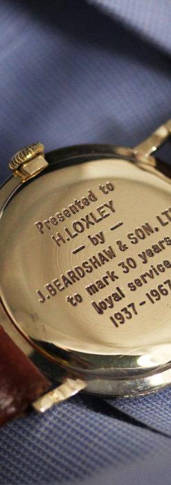 ベンソンの昭和レトロな金無垢アンティーク腕時計 【1967年頃】-W1483-13
