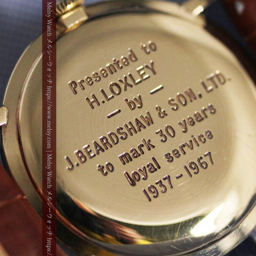 ベンソンの昭和レトロな金無垢アンティーク腕時計 【1967年頃】-W1483-14