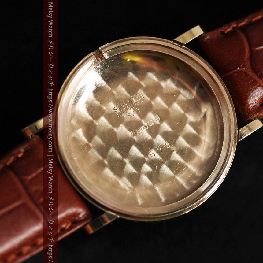 ベンソンの昭和レトロな金無垢アンティーク腕時計 【1967年頃】-W1483-15