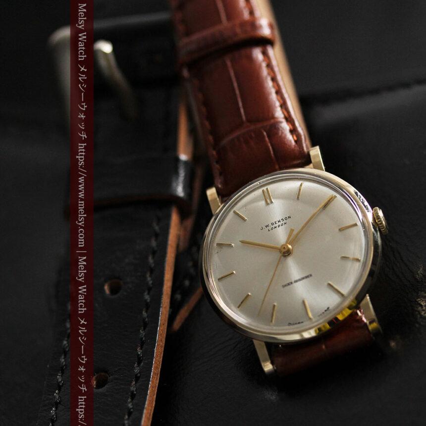 ベンソンの昭和レトロな金無垢アンティーク腕時計 【1967年頃】-W1483-2