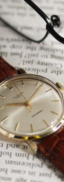 ベンソンの昭和レトロな金無垢アンティーク腕時計 【1967年頃】-W1483-4