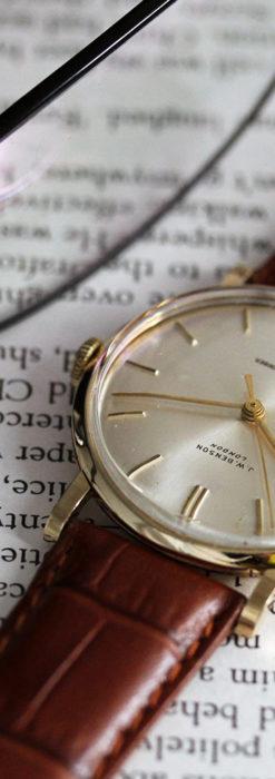 ベンソンの昭和レトロな金無垢アンティーク腕時計 【1967年頃】-W1483-5