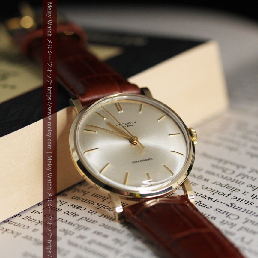 ベンソンの昭和レトロな金無垢アンティーク腕時計 【1967年頃】-W1483-6