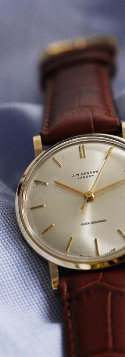 ベンソンの昭和レトロな金無垢アンティーク腕時計 【1967年頃】-W1483-7