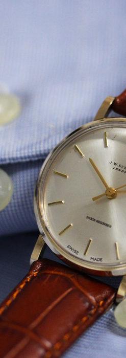 ベンソンの昭和レトロな金無垢アンティーク腕時計 【1967年頃】-W1483-8