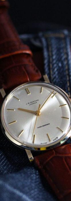 ベンソンの昭和レトロな金無垢アンティーク腕時計 【1967年頃】-W1483-9