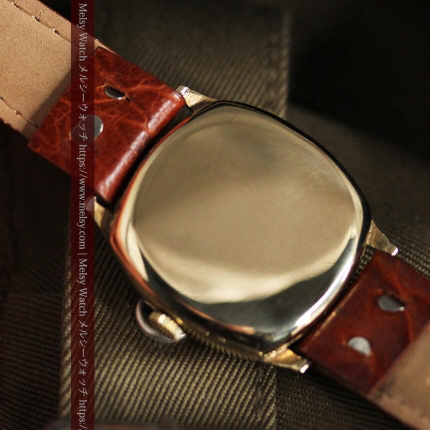 英国ベンソン クッション型の金無垢アンティーク腕時計 【1950年頃】-W1484-15
