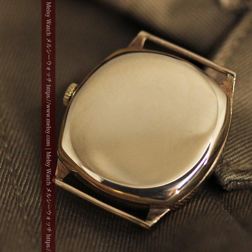 英国ベンソン クッション型の金無垢アンティーク腕時計 【1950年頃】-W1484-16