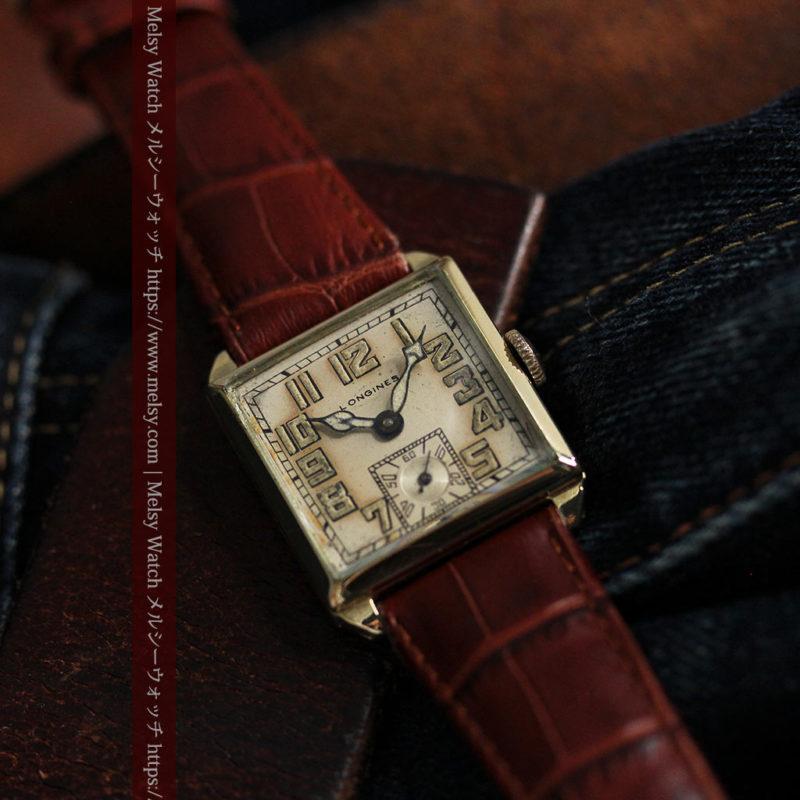 上質な枯れ具合を見せるロンジンの非常に味のあるアンティーク腕時計 【1926年製】-W1485-1