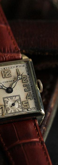 上質な枯れ具合を見せるロンジンの非常に味のあるアンティーク腕時計 【1926年製】-W1485-2