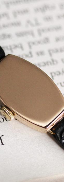 ロレックス 細長い樽型の女性用金無垢アンティーク腕時計 【1930年頃】-W1486-16
