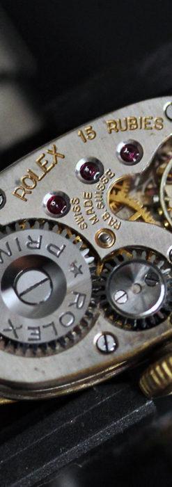 ロレックス 細長い樽型の女性用金無垢アンティーク腕時計 【1930年頃】-W1486-18