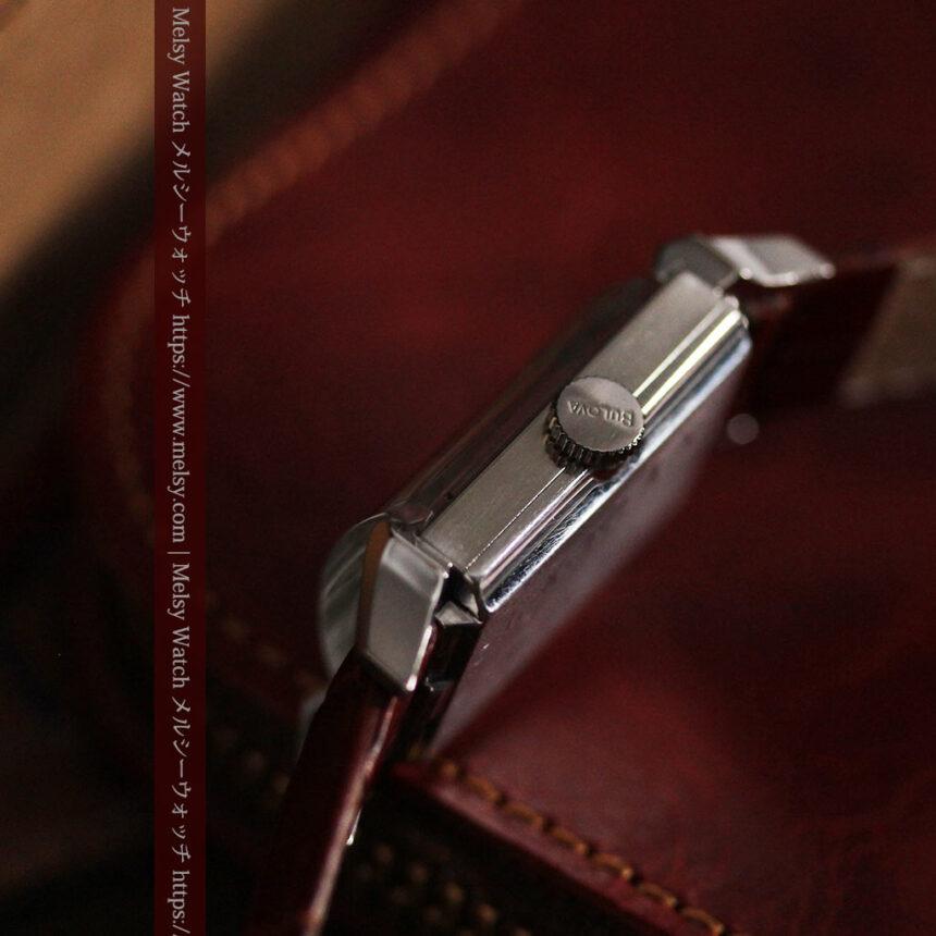 ブローバのダイヤモンドと黒文字盤の上品なアンティーク腕時計 【1958年頃】-W1489-14