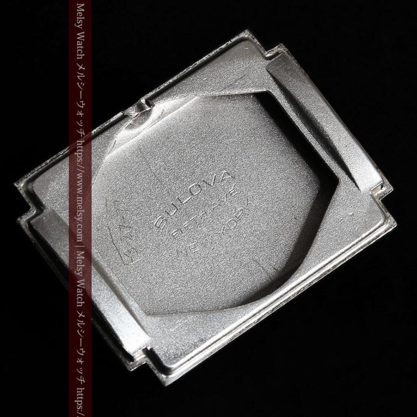 ブローバのダイヤモンドと黒文字盤の上品なアンティーク腕時計 【1958年頃】-W1489-16