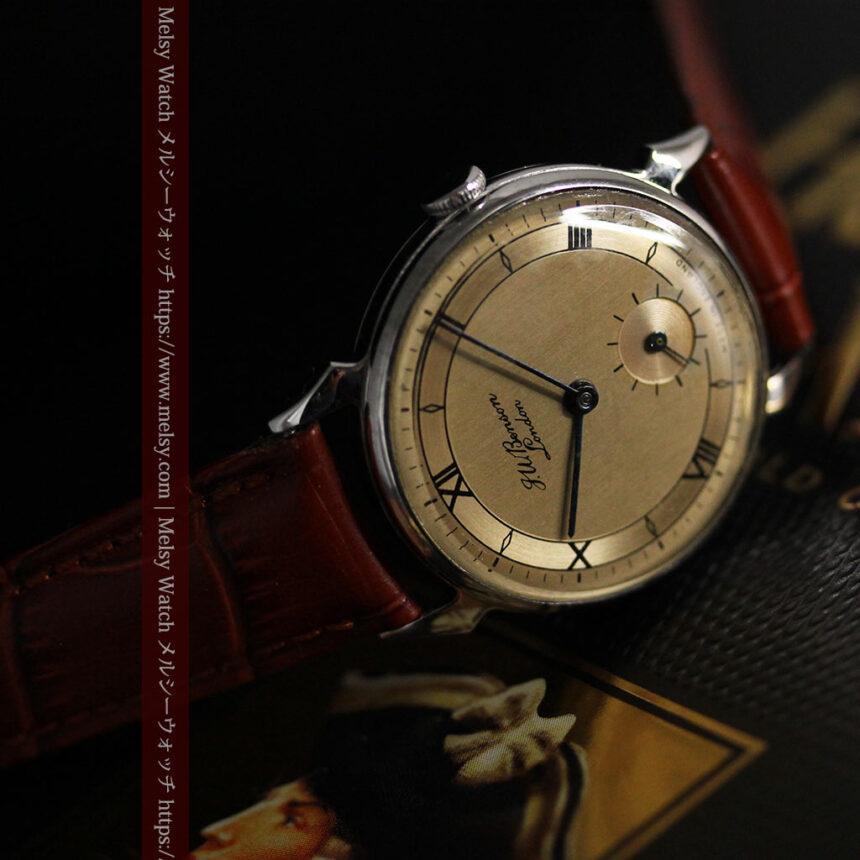 英国ベンソン 渋い深みのあるアンティーク腕時計 【1950年頃】-W1490-10