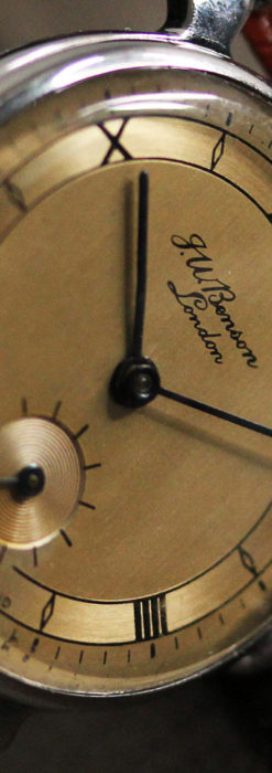 英国ベンソン 渋い深みのあるアンティーク腕時計 【1950年頃】-W1490-12