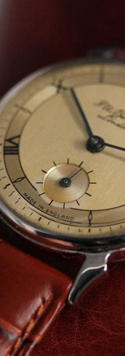 英国ベンソン 渋い深みのあるアンティーク腕時計 【1950年頃】-W1490-13