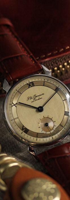 英国ベンソン 渋い深みのあるアンティーク腕時計 【1950年頃】-W1490-2
