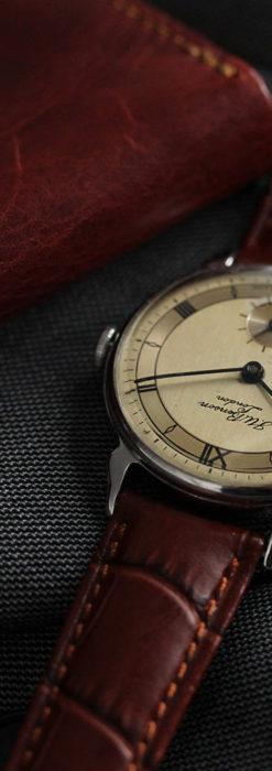 英国ベンソン 渋い深みのあるアンティーク腕時計 【1950年頃】-W1490-5