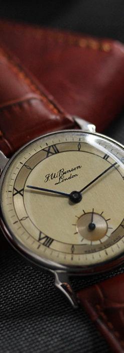 英国ベンソン 渋い深みのあるアンティーク腕時計 【1950年頃】-W1490-6
