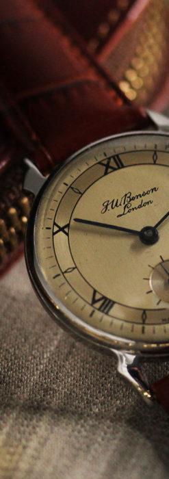 英国ベンソン 渋い深みのあるアンティーク腕時計 【1950年頃】-W1490-8