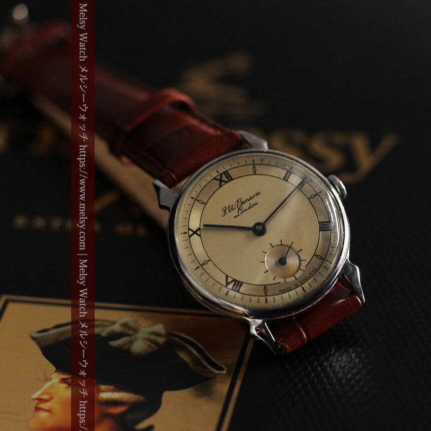 英国ベンソン 渋い深みのあるアンティーク腕時計 【1950年頃】-W1490-9