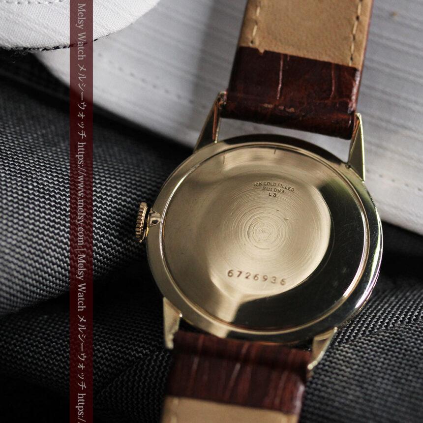黒と金銀・ダイヤのコントラスト・ブローバのアンティーク腕時計 【1953年製】-W1493-14