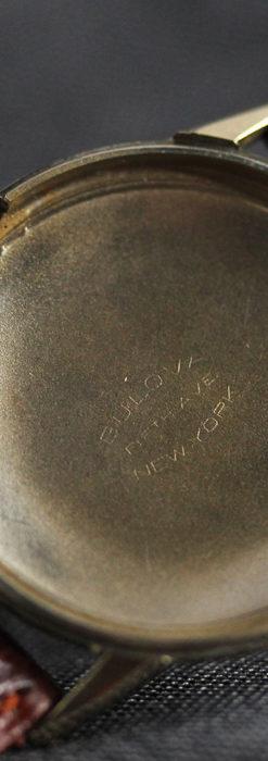 黒と金銀・ダイヤのコントラスト・ブローバのアンティーク腕時計 【1953年製】-W1493-15