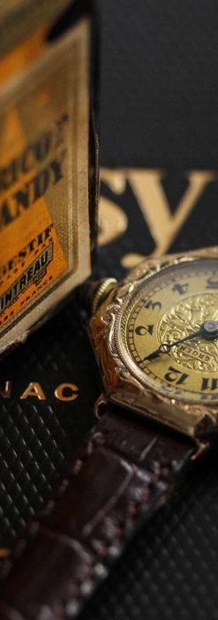 美しき古典 華あるグリュエンの女性用アンティーク腕時計 【1920年頃】-W1494-1