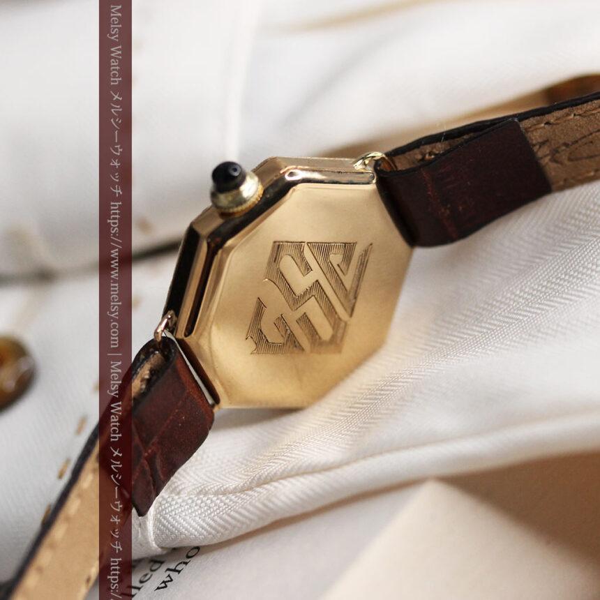 美しき古典 華あるグリュエンの女性用アンティーク腕時計 【1920年頃】-W1494-13