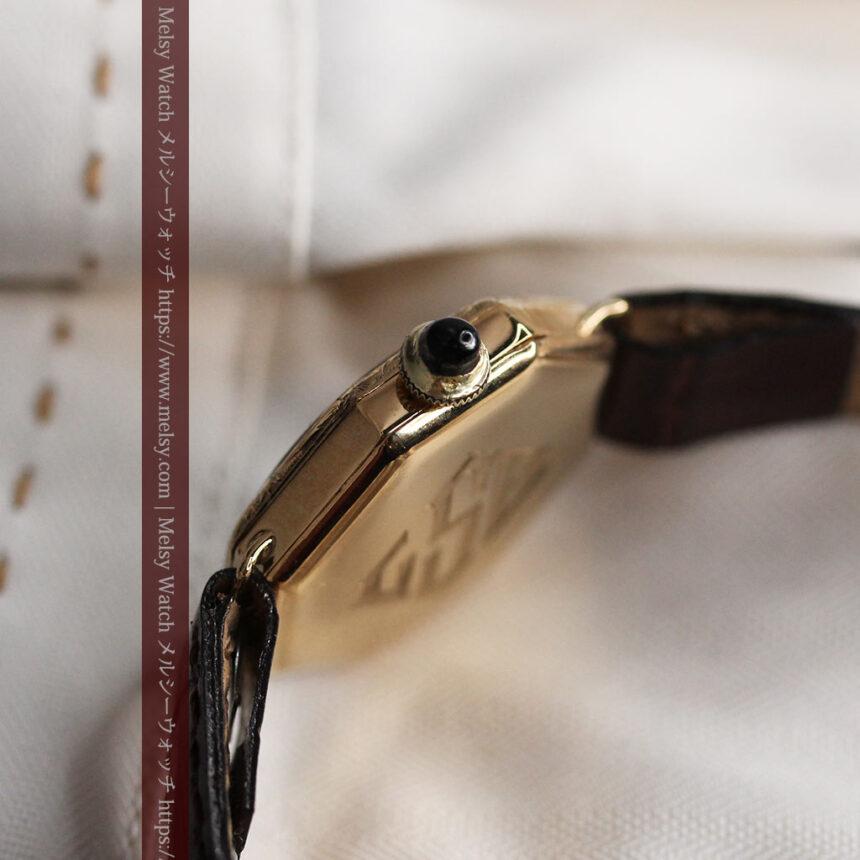 美しき古典 華あるグリュエンの女性用アンティーク腕時計 【1920年頃】-W1494-14