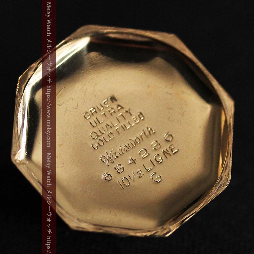 美しき古典 華あるグリュエンの女性用アンティーク腕時計 【1920年頃】-W1494-15
