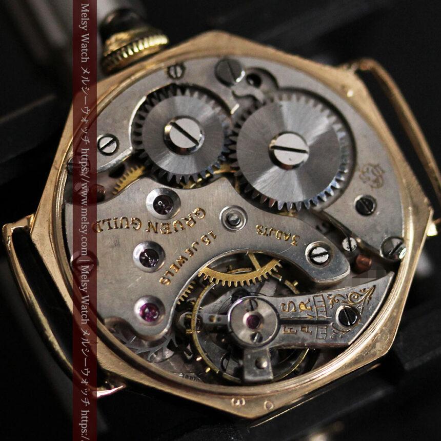 美しき古典 華あるグリュエンの女性用アンティーク腕時計 【1920年頃】-W1494-16