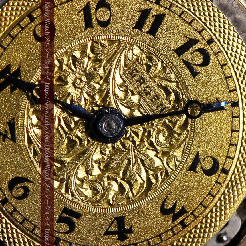 美しき古典 華あるグリュエンの女性用アンティーク腕時計 【1920年頃】-W1494-2