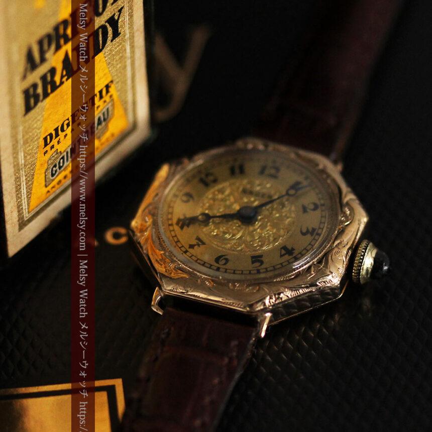 美しき古典 華あるグリュエンの女性用アンティーク腕時計 【1920年頃】-W1494-3