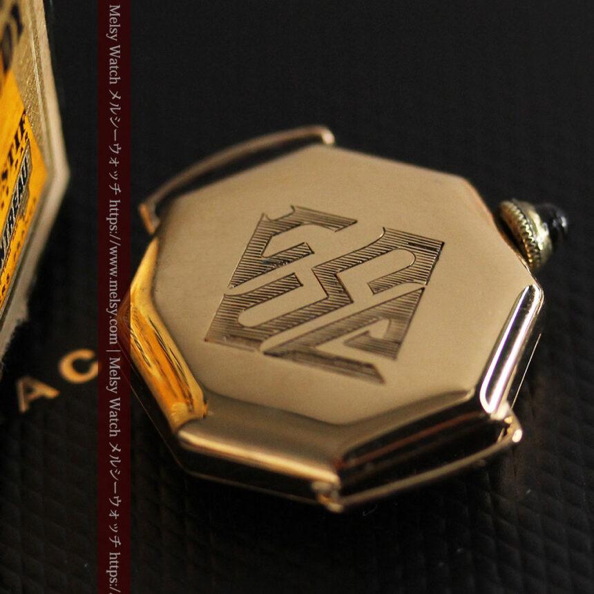 美しき古典 華あるグリュエンの女性用アンティーク腕時計 【1920年頃】-W1494-4