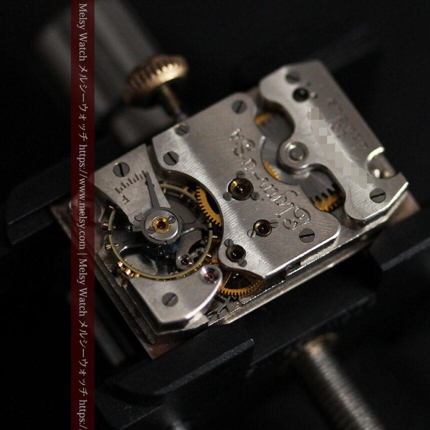 エルジン 装飾と曲線の美しいエレガントなアンティーク腕時計 【1937年製】-W1495-18