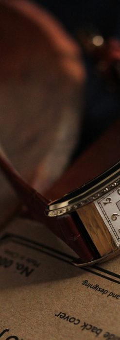 エルジン 装飾と曲線の美しいエレガントなアンティーク腕時計 【1937年製】-W1495-3