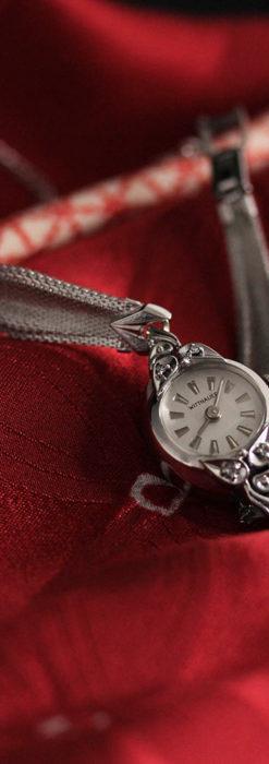 ウイットナーの艶やかな女性用アンティーク腕時計 【1950年頃】箱付き-W1497-1