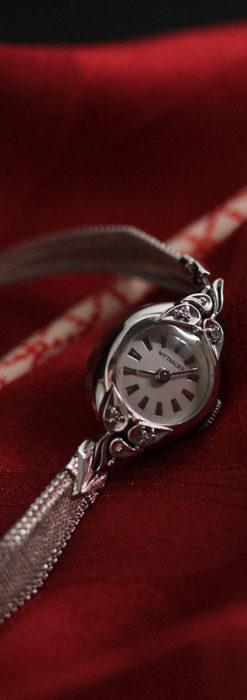 ウイットナーの艶やかな女性用アンティーク腕時計 【1950年頃】箱付き-W1497-10