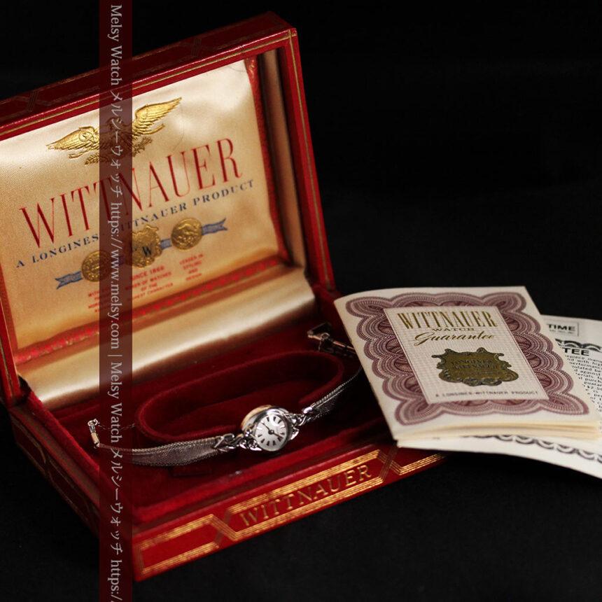 ウイットナーの艶やかな女性用アンティーク腕時計 【1950年頃】箱付き-W1497-12