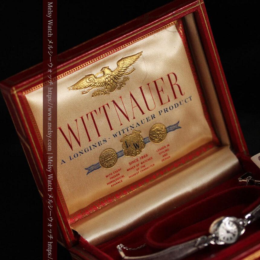 ウイットナーの艶やかな女性用アンティーク腕時計 【1950年頃】箱付き-W1497-13