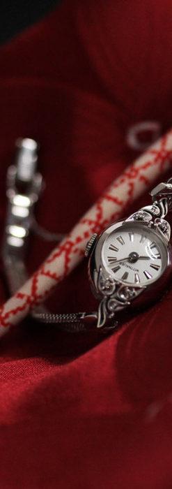 ウイットナーの艶やかな女性用アンティーク腕時計 【1950年頃】箱付き-W1497-2