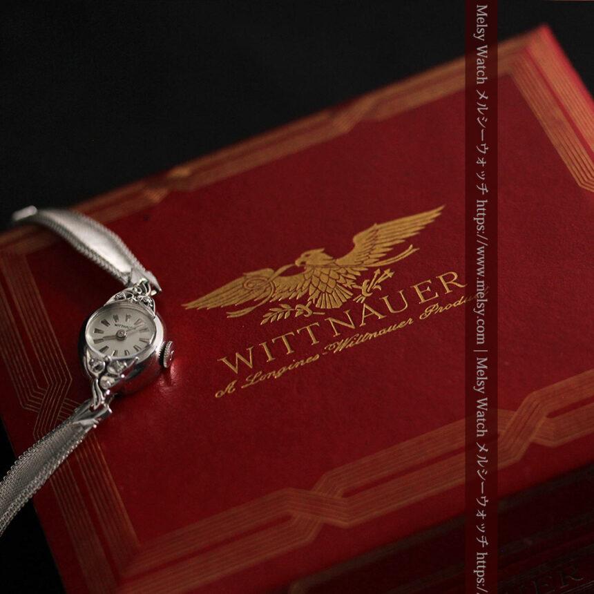 ウイットナーの艶やかな女性用アンティーク腕時計 【1950年頃】箱付き-W1497-4