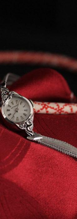 ウイットナーの艶やかな女性用アンティーク腕時計 【1950年頃】箱付き-W1497-6