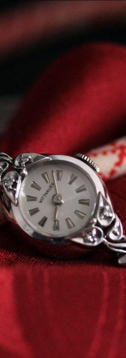 ウイットナーの艶やかな女性用アンティーク腕時計 【1950年頃】箱付き-W1497-7