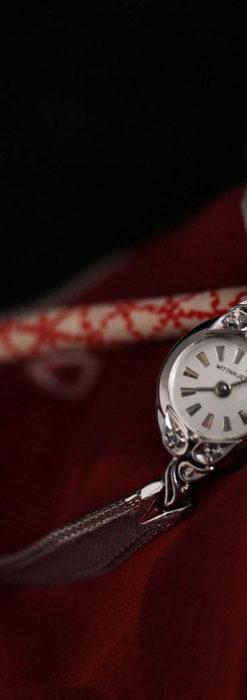 ウイットナーの艶やかな女性用アンティーク腕時計 【1950年頃】箱付き-W1497-8