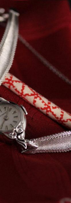 ウイットナーの艶やかな女性用アンティーク腕時計 【1950年頃】箱付き-W1497-9