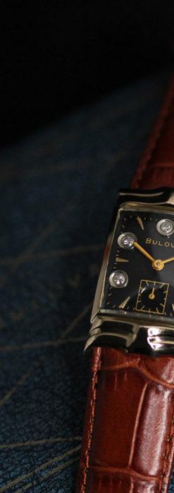 ブローバ 秀逸なデザインが光る金無垢アンティーク腕時計 【1953年製】-W1499-1