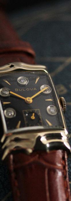 ブローバ 秀逸なデザインが光る金無垢アンティーク腕時計 【1953年製】-W1499-2